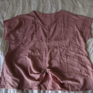 2xl pink knotted blouse